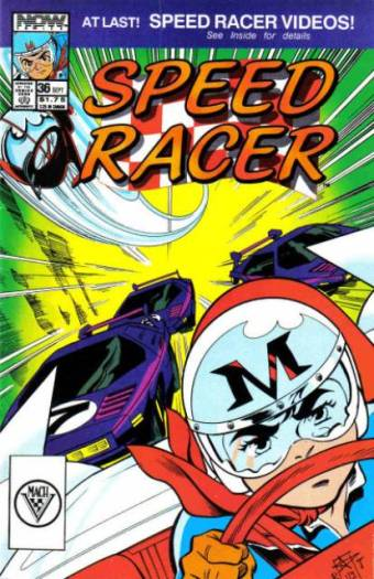 Norm Dwyer and Brian Thomas, Speed Racer, September 1990, NOW! Comics